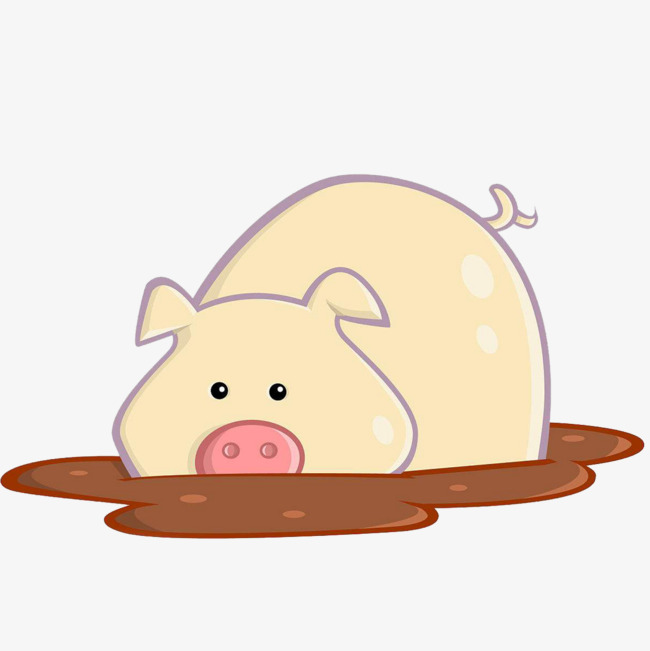 Mud clipart mud pit. A pig the puddle