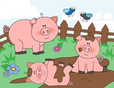 Mud clipart pig pen. Free clip art from