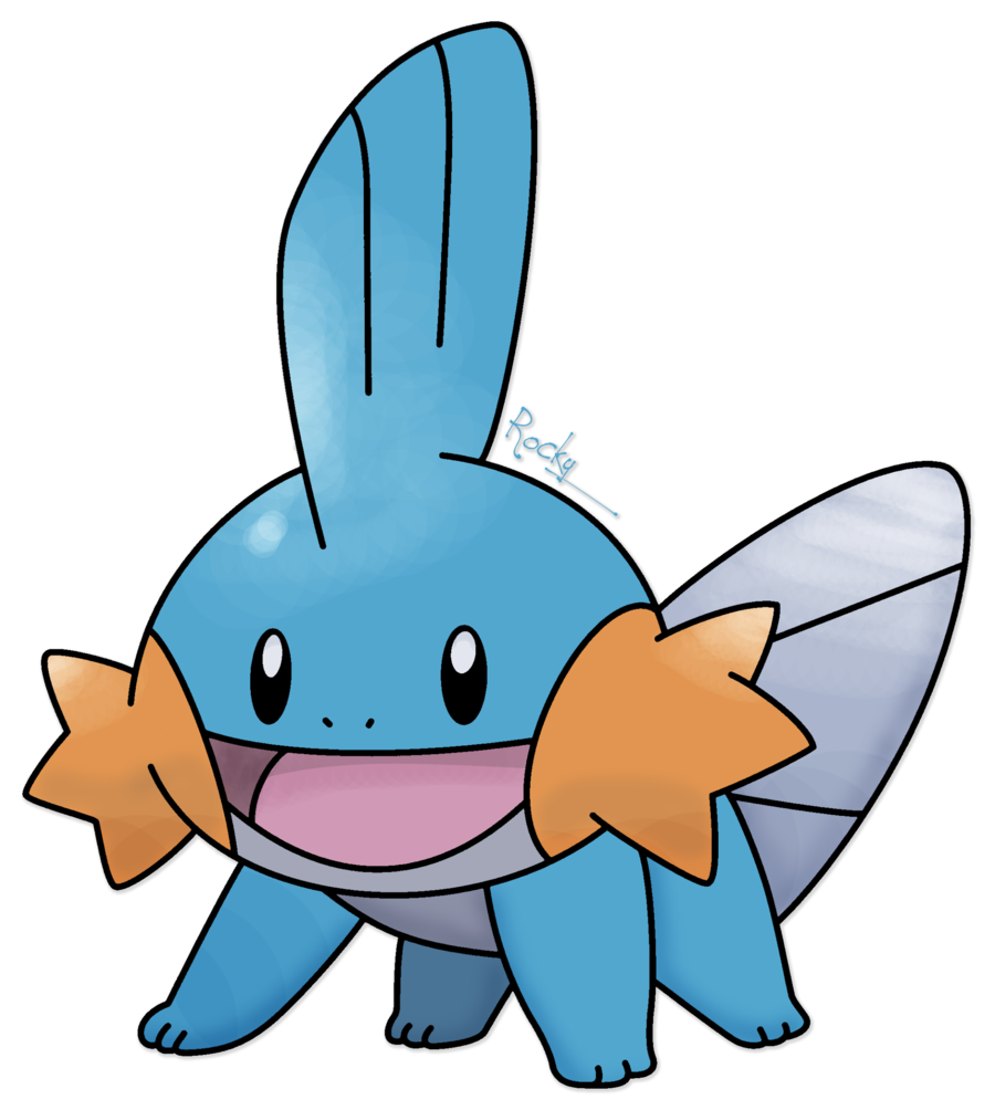 Mudkip drawing. By rockystuffe on deviantart