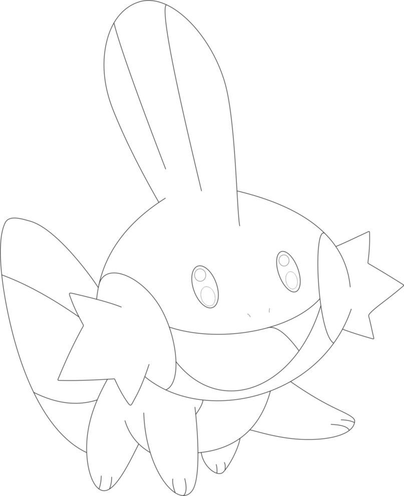 Mudkip drawing form. For free download