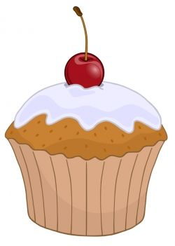 Muffins clipart new year. Cherry top cupcake cricut