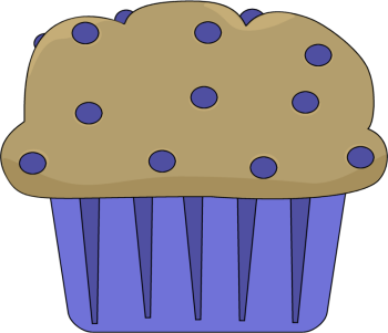 Muffin clipart. Blueberry