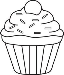 Muffin clipart. Sprinkles single cupcakery pinterest