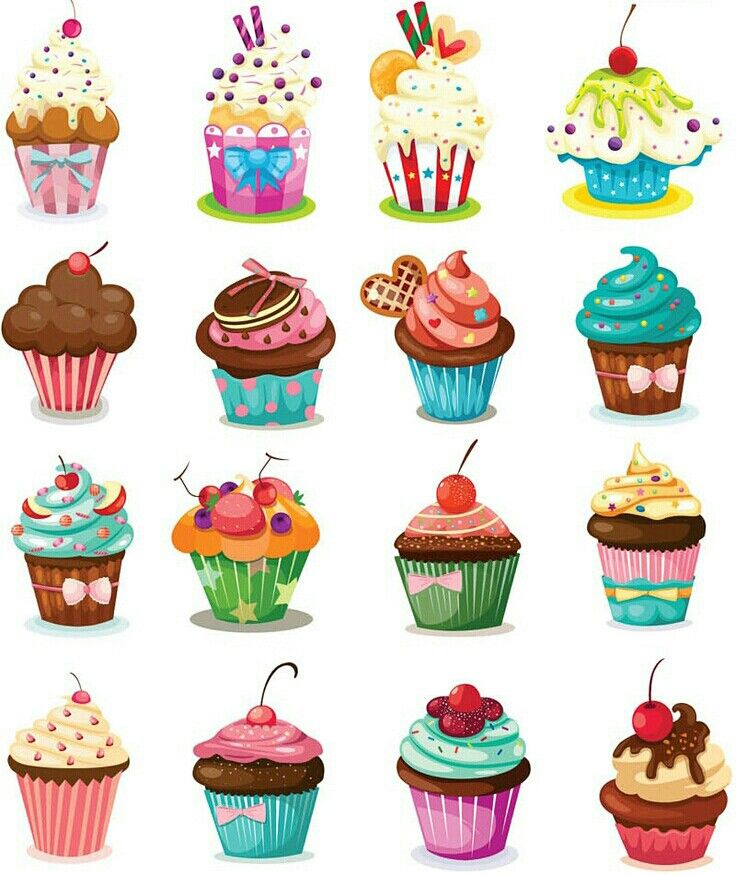 Muffin clipart cack. Yummy delicious cupcake cake
