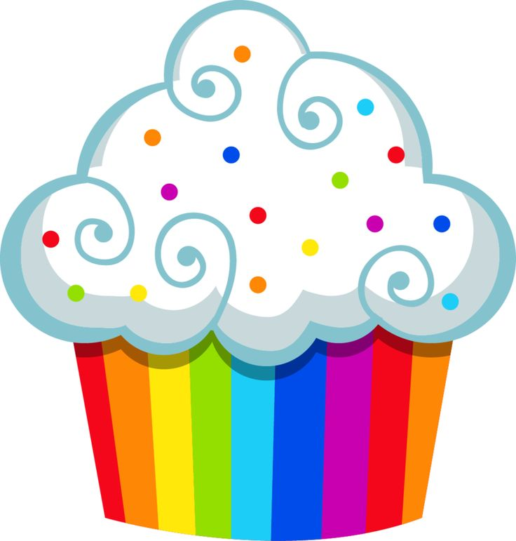 Muffin clipart colored cupcake. Best all about