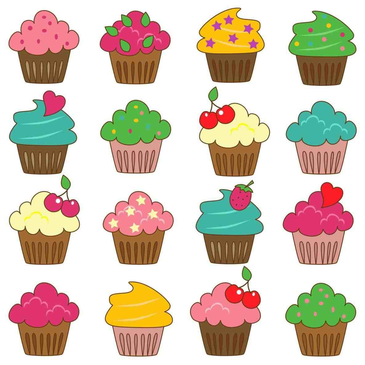 Muffin clipart colored cupcake. Cup cake free download