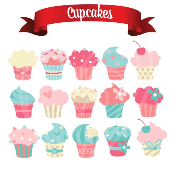 Muffin clipart colored cupcake. Yummy delicious cute pastel