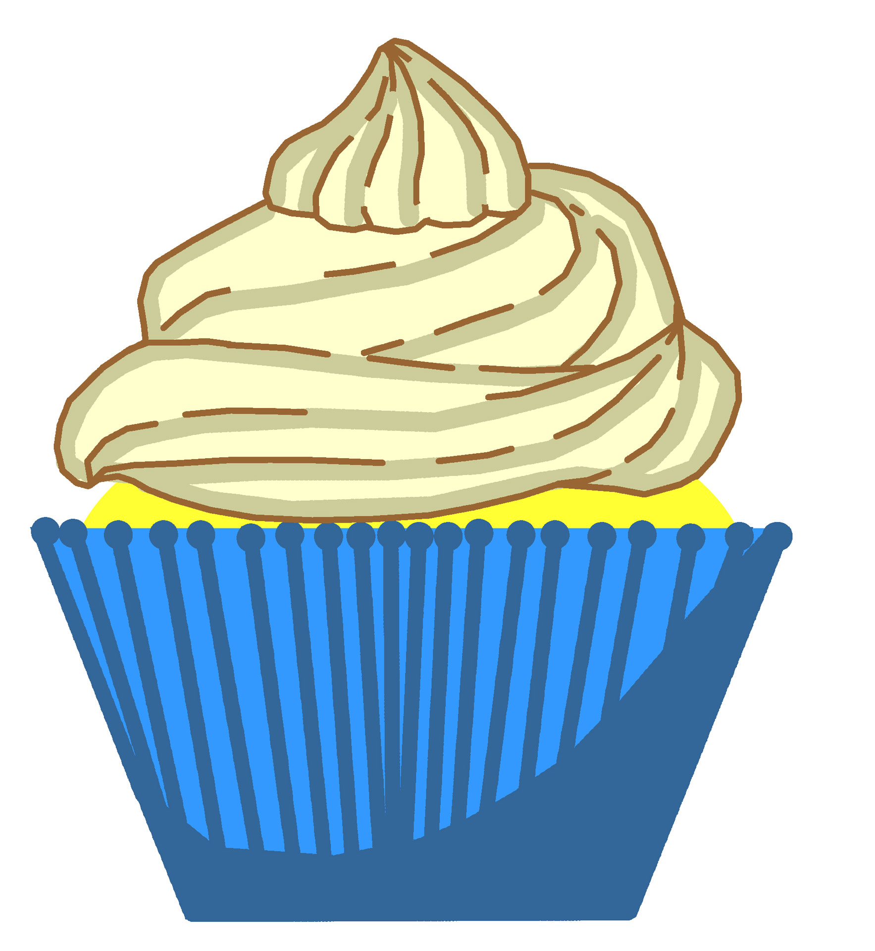 Muffins clipart vanilla cupcake. Frosted cookie clip art