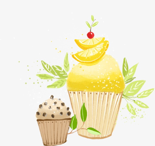 Muffin clipart lemon cake. Yellow png image and