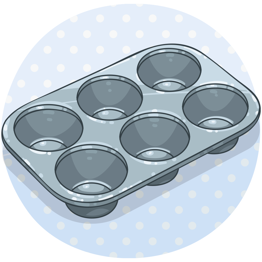 Muffin tin. Clipart tray x free