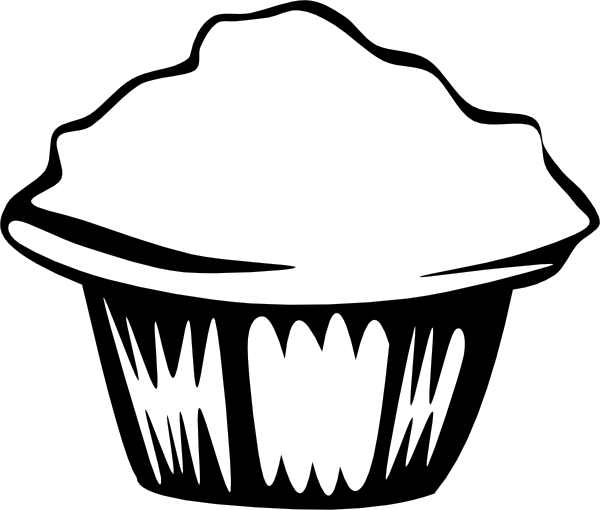 Muffin svg printable. Cupcake outline clip art