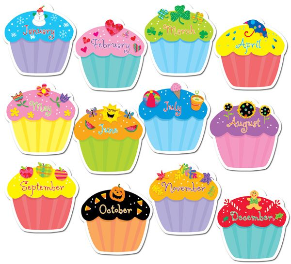 Muffins clipart august. Cupcake birthday cut outs