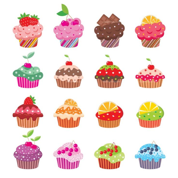 Muffins clipart february. Cupcakes