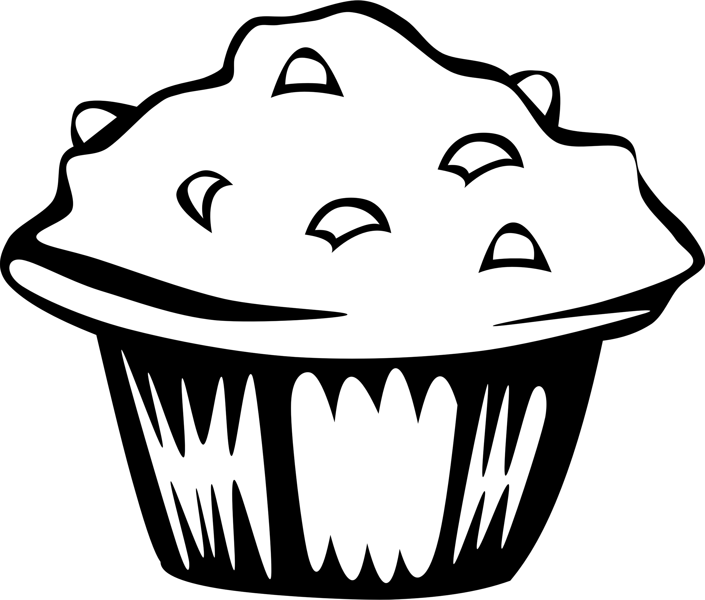 Muffins clipart group. Breakfast drawing chocolate