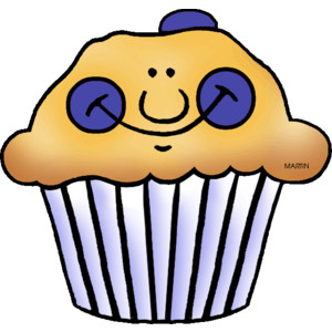 Muffins clipart group. Blueberry muffin small pencil