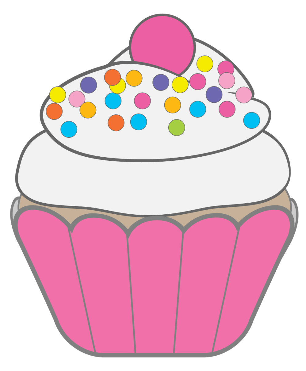 Muffins clipart group. With items clip art