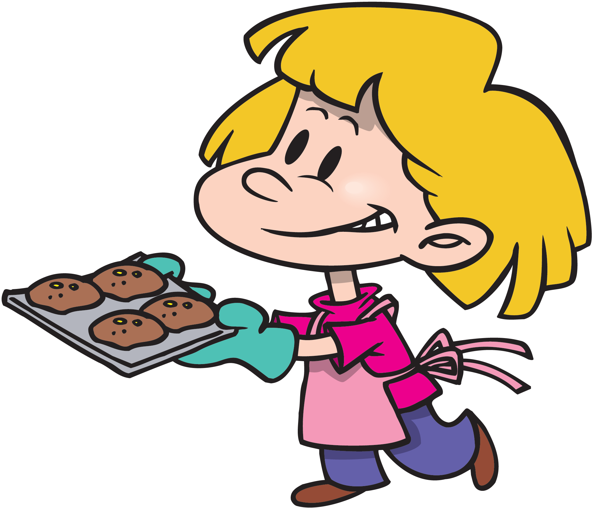 Cooking transparent cartoon. Kids images muffins png