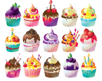 Muffins clipart new year. Cupcakes