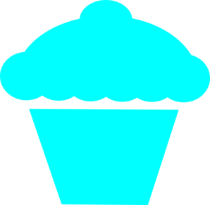 Muffins clipart turquoise. Cupcake teal muffin clip