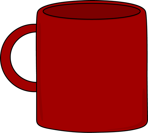 Red clipart coffee. Mug handle