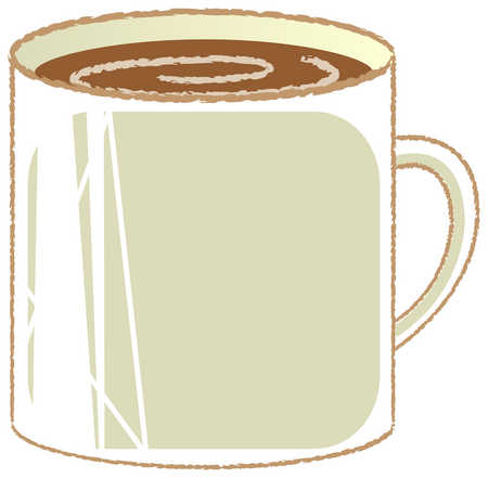 Mug clipart one object. Stock illustration of coffee