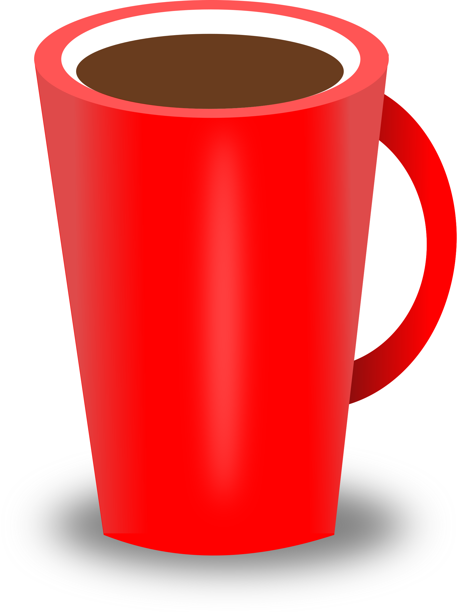 Coffee cup clipart red. Cups mug isolated