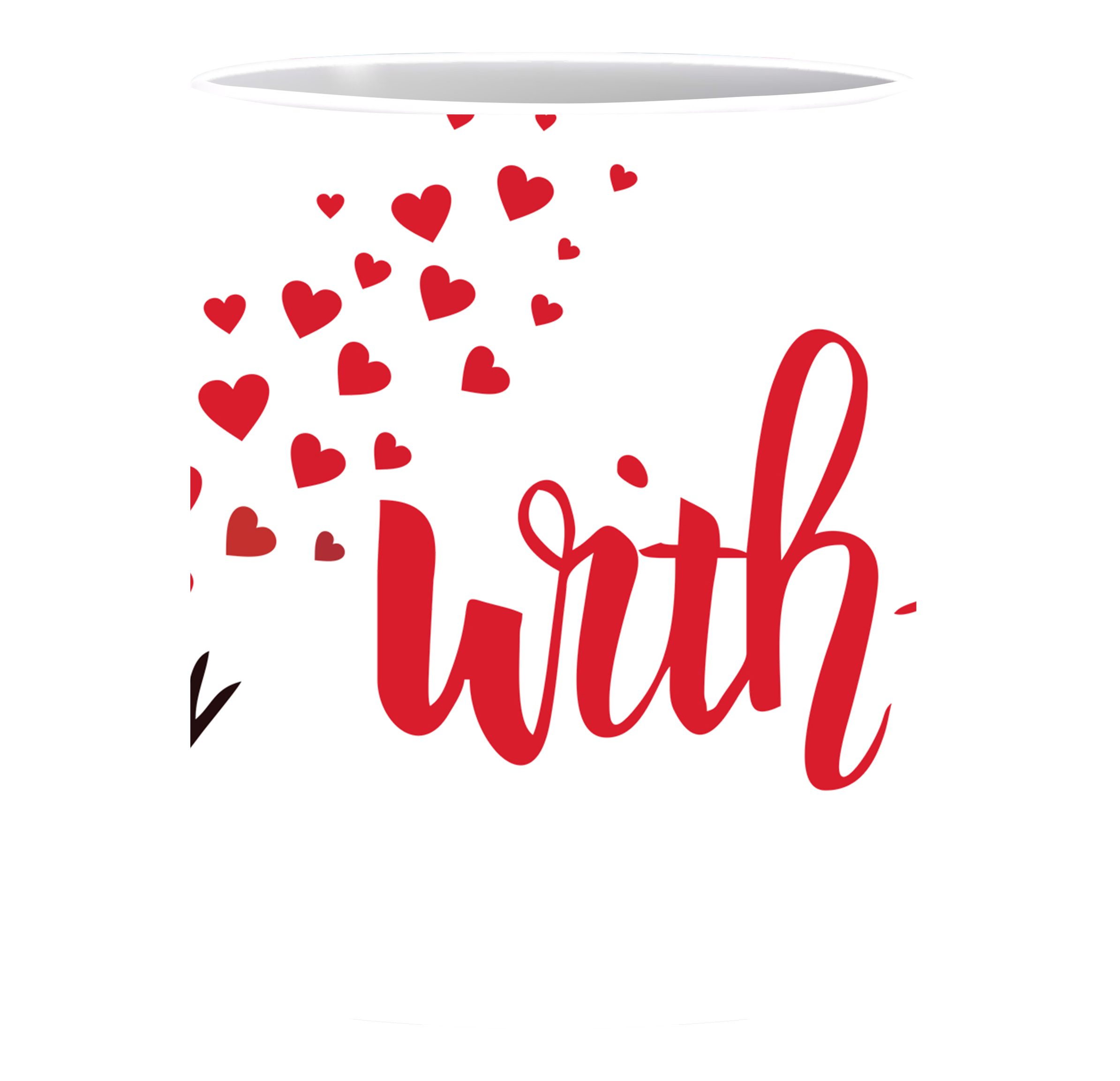 Mug clipart plain red. Mugs printing personalized custom
