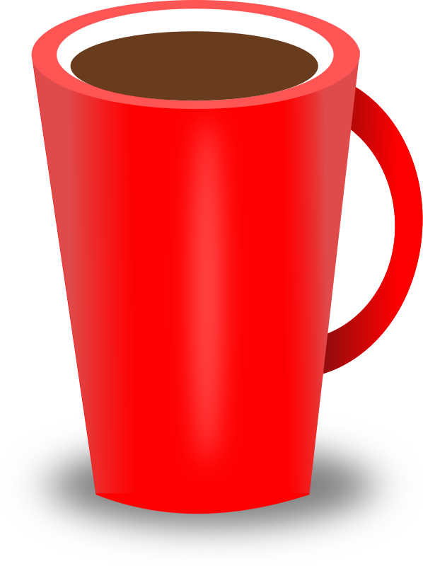 Mug clipart plain red. Coffee cups starbucks