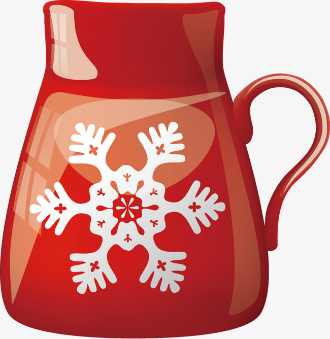 Mug clipart snowflake. Red cup festival winter
