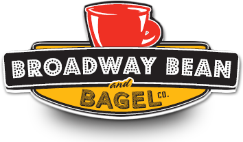 Mugs clipart coffee bagel. Broadway bean and