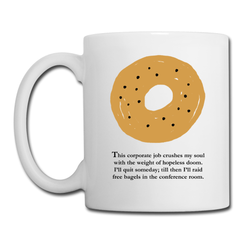 Mugs clipart coffee bagel. Mouse pads quarter life