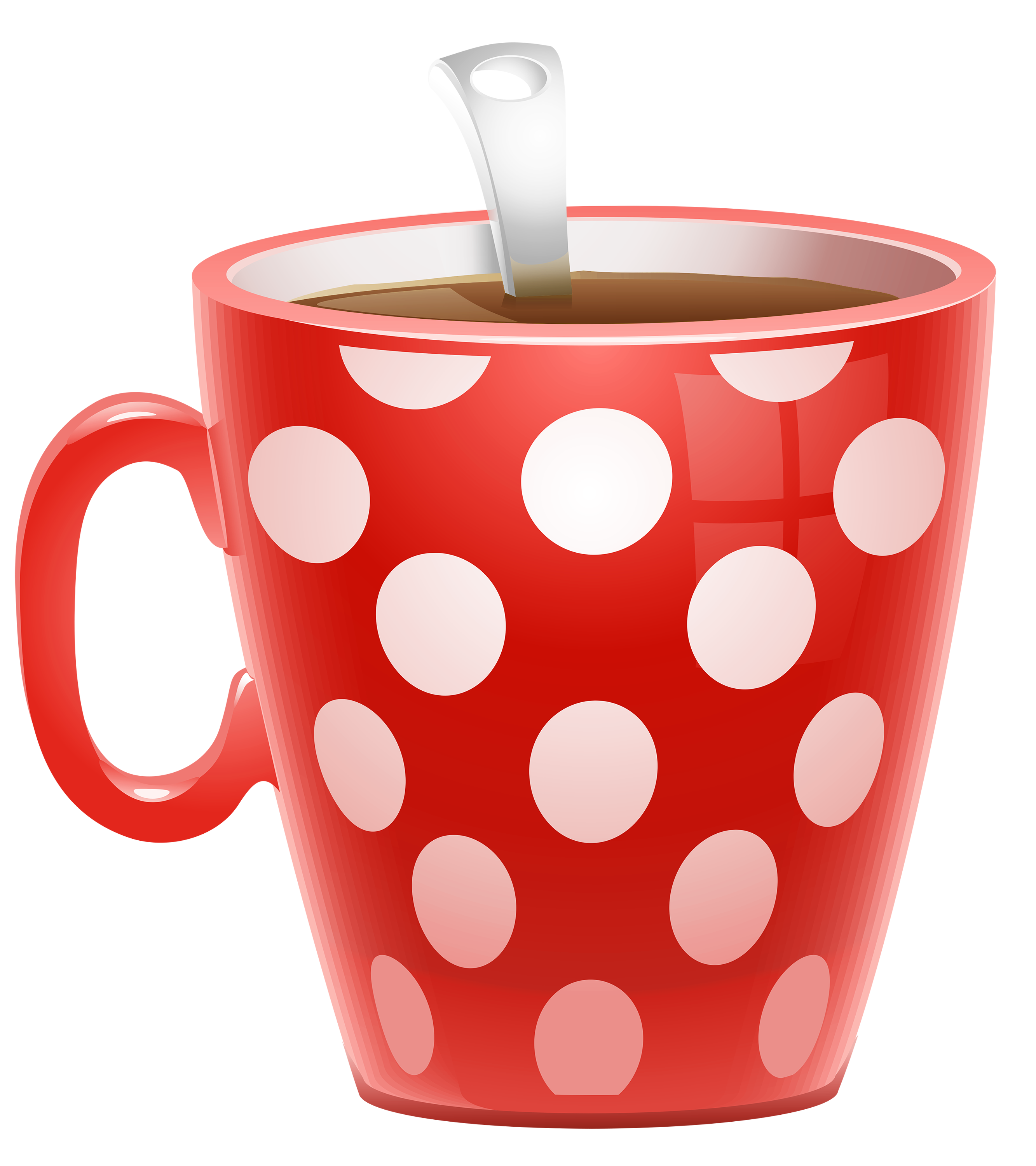coffee cup clipart red