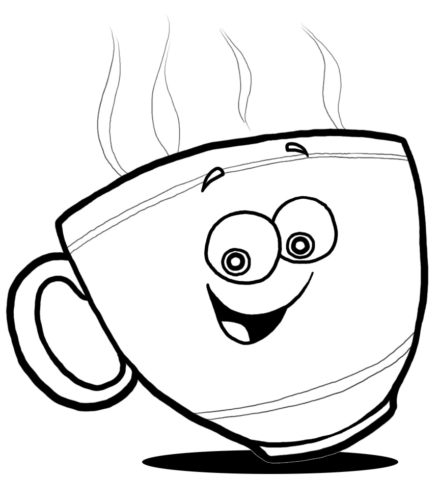 Mugs clipart line drawing. Coffee cup at getdrawings