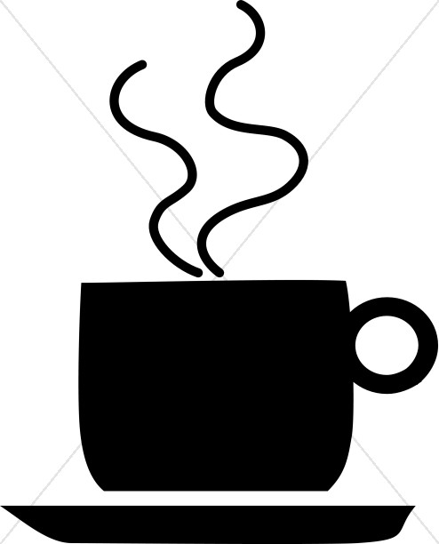 Cup clipart refreshments. Silhouette coffee mug hour