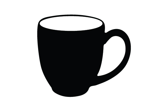 Mugs clipart silhouette. Coffee at getdrawings com