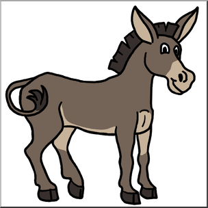 Mule clipart. Clip art cartoon color