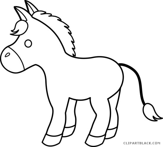 Mule clipart black and white. Page of clipartblack com