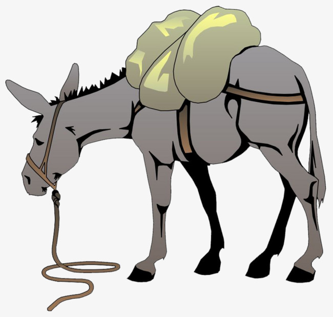 Mule clipart horse. The back loaded goods