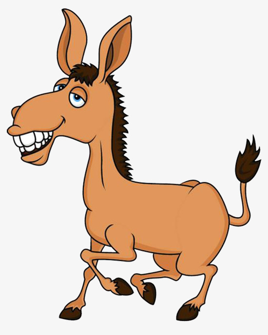 Mule clipart horse tooth. Yellow and brown cartoon