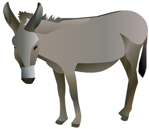 Mule clipart nativity donkey. Manger free at getdrawings