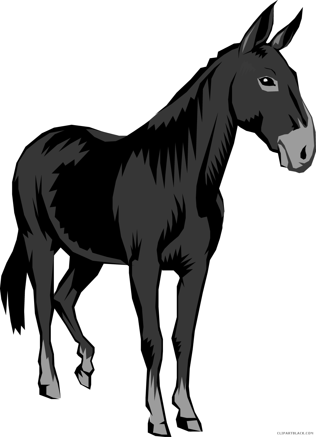 Mule clipart. Clipartblack com animal free