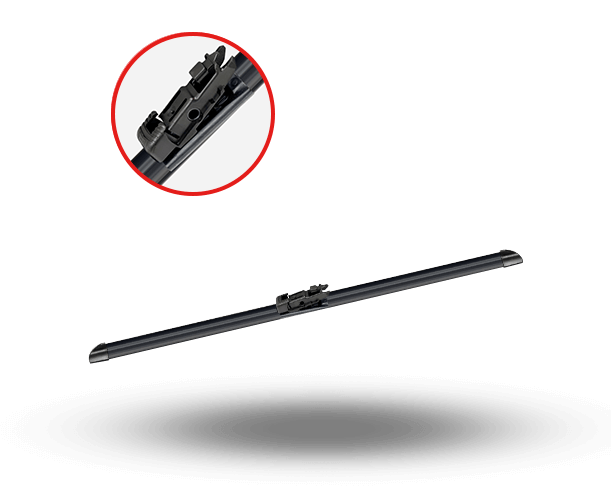 Easyvision flat wiper blades. Multi clip clipart royalty free