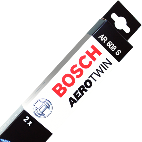 Twin pack wiper blades. Multi clip bosch aerotwin picture transparent stock