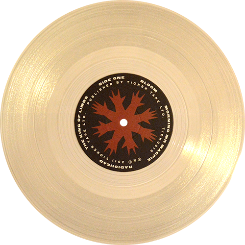 Multi color vinyl png lp. Radiohead the king of