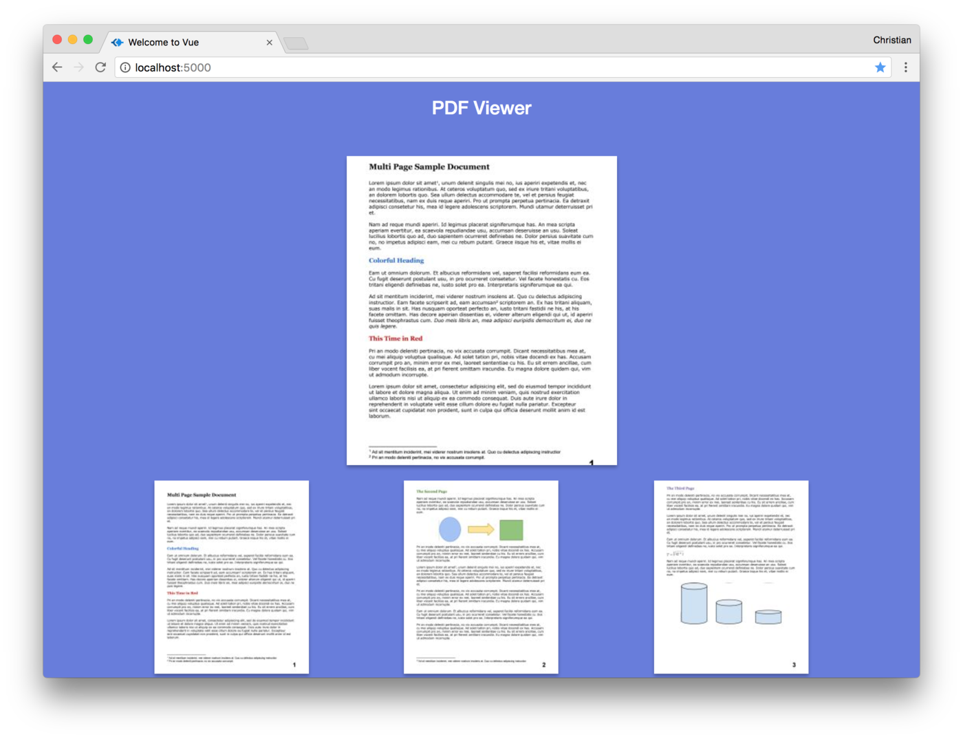 Multi page png viewer. Build a pdf with