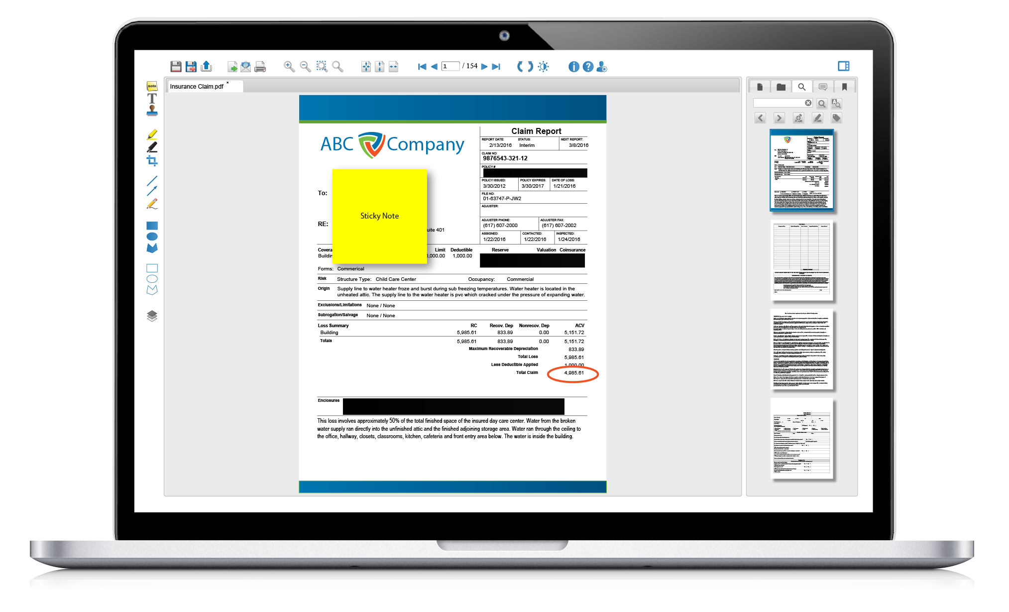 Multi page png viewer. Html document for alfresco
