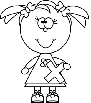 Multiplication clipart black and white. Kids with sign clip