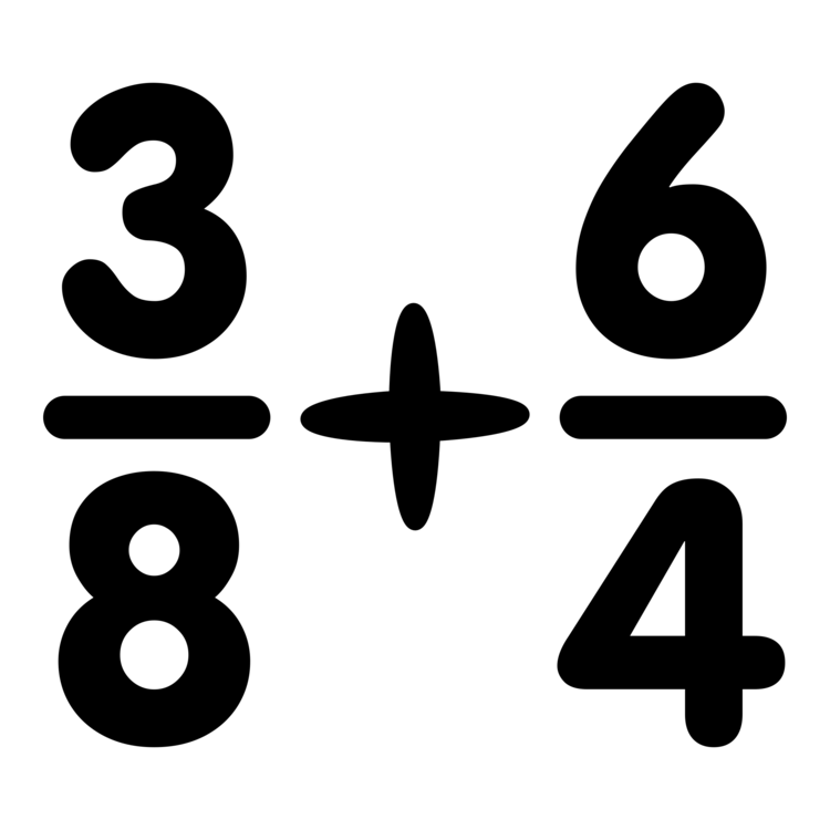 Multiplication clipart black and white. Adding fractions operation mathematics