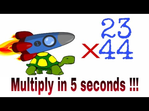 Multiplication clipart calculation. Fast trick for two