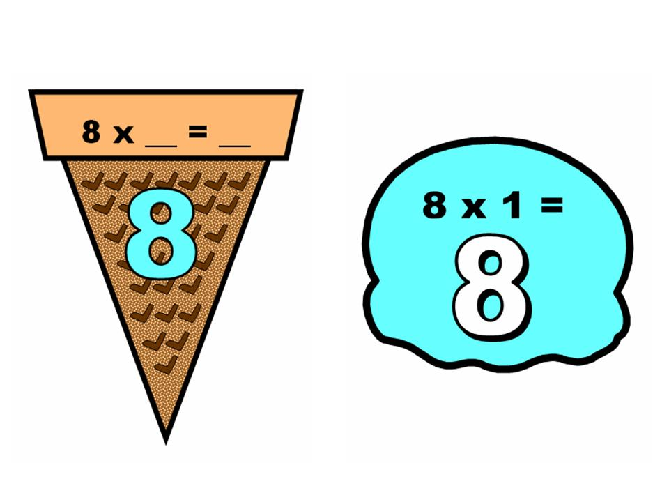 Multiplication clipart ice cream. Math scoops display other